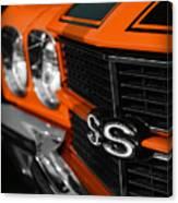 1970 Chevelle Ss396 Ss 396 Orange Canvas Print