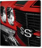 1970 Chevelle Ss396 Ss 396 Red Canvas Print