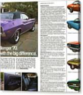 1970 Dodge Challenger Canvas Print