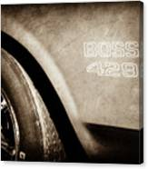 1970 Ford Mustang Boss 429 Wheel Emblem -0370s Canvas Print