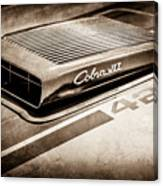 1970 Ford Mustang Mach 1 Fastback Cobra Jet 428 Hood Emblem -0611s Canvas Print