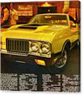 1970 Oldsmobile Cutlass 442 W-30 Canvas Print