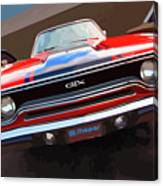 1970 Plymouth Gtx Vectorized Canvas Print