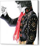 1971 Black Pinwheel Suit Canvas Print