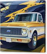 1971 Chevrolet C10 Cheyenne Fleetside 2wd Pickup Canvas Print