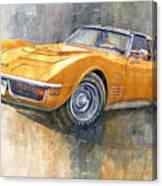 1971 Chevrolet Corvette Lt1 Coupe Canvas Print