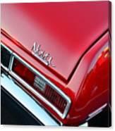 1971 Chevy Nova - Red Canvas Print