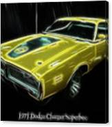 1971 Dodge Charger Superbee - Electric Canvas Print