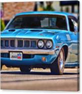 1971 Plymouth 'cuda 383 Canvas Print