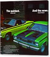 1971 Plymouth Duster 340 And Twister Canvas Print