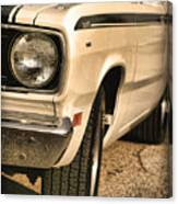 1971 Plymouth Duster 340 Four Barrel Canvas Print