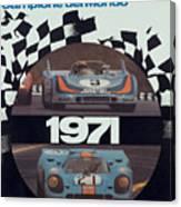 1971 Porsche World Champion Poster Canvas Print