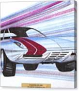 1972 Barracuda  Vintage Styling Design Concept Sketch Canvas Print