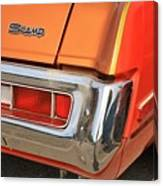 1973 Plymouth Scamp Tail Lights And Logo Canvas Print