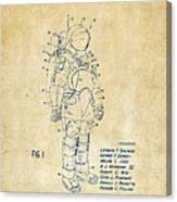 1973 Space Suit Patent Inventors Artwork - Vintage Canvas Print