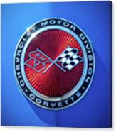 1974 Corvette Sting Ray Convertible Emblem Canvas Print