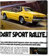 1974 Dodge Dart Sport Rallye Canvas Print