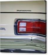 1974 Plymouth Duster Tail Light With Logos Canvas Print