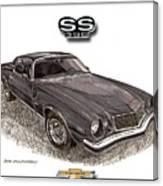1976 Chevrolet Camato S S 396 Canvas Print