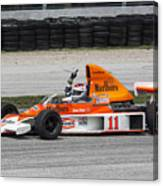 1976 Mclaren M23 F1 At Road America Canvas Print