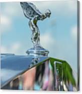1976 Rolls  Royce Saloon Hood Ornament Canvas Print