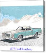 1977 Ford Ranchero Canvas Print