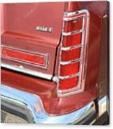 1977 Lincoln Continental Mark V With Tail Lights And Logo Canvas Print