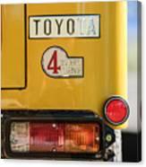 1978 Toyota Land Cruiser Fj40 Taillight Emblem -1191c Canvas Print