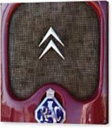 1979 Citroen 2cv Speedster Hood Ornament Canvas Print