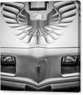 1979 Pontiac Trans Am Hood Firebird -0812bw Canvas Print