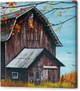 1980 Barn Canvas Print