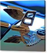 1980 Bentley Hood Ornament Canvas Print
