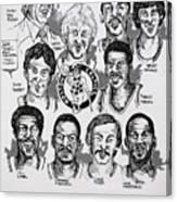 1981 Boston Celtics Championship Newspaper Poster Canvas Print
