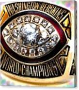 1982 Redskins Super Bowl Ring Canvas Print