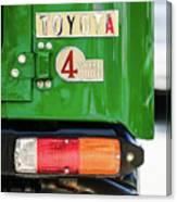 1982 Toyota Fj43 Land Cruiser Tail Light Emblem -0483g Canvas Print