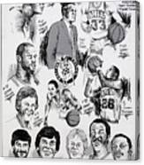 1984 Boston Celtics Championship Newspaper Poster Canvas Print
