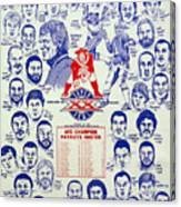 1985 New England Patriots Superbowl Newspaper Poster Canvas Print