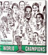 1986 Boston Celtics Championship Newspaper Poster Canvas Print