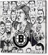 1988 Boston Bruins Newspaper Poster Canvas Print