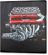 1990 Ferrari F1 Engine V12 Canvas Print