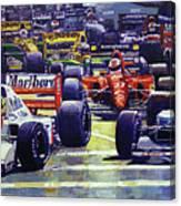 1992 Monaco Gp Start  Canvas Print