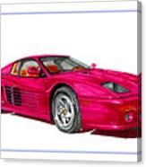 Ferrari F 512 M Russo 1995 Canvas Print