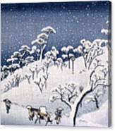 19th C. Snow On Asuka Hill Canvas Print