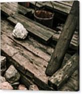 19th Century Shaft Mining Canvas Print