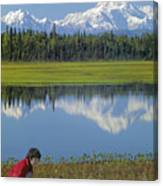 1m1326 Wife And Son In Denali National Park Canvas Print
