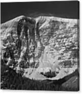 1m3769 Bw East Face Mt Kitchner Canvas Print
