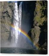 1m4716 Snoqualmie Falls And Rainbow Canvas Print
