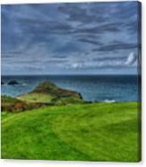 1st Green Cape Cornwall Golf Club Canvas Print