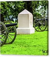 1st Mass Battery Gettysburg National Cemetery Canvas Print