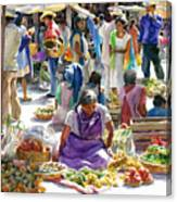 Saturday Market Canvas Print